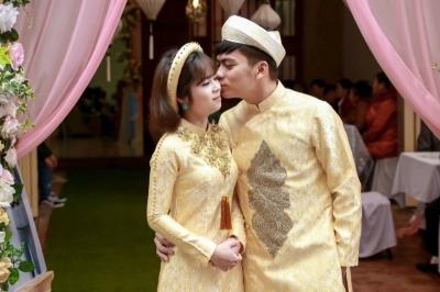 Áo dài cưới Gầm - áo dài cưới cách tân