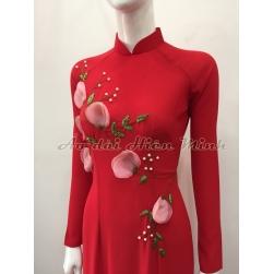 Áo dài đẹp, áo dài truyền thống đính họa tiết hoa nổi duyên dáng