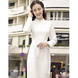 Áo dài cách tân nữ 2 tà - áo dài trắng